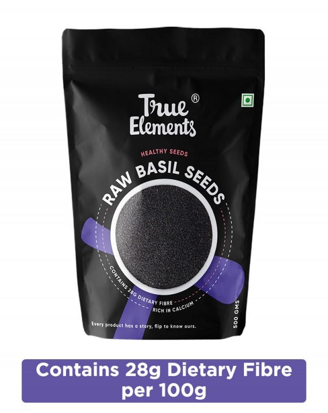 Raw Basil Seeds - Calcium Rich