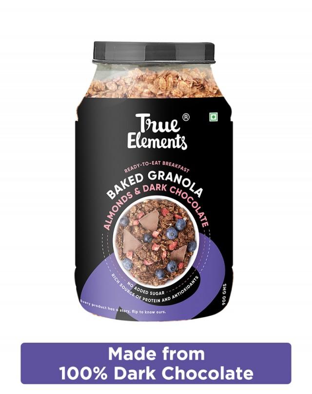 Chocolate Granola with 100% Dark Chocolate