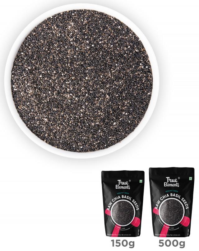 Raw Chia Basil Seeds - Iron Rich